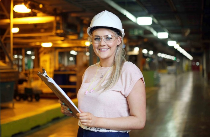 Celebrating National Women in Engineering Day (June 23) at DuPont is Emma Smith, Mechanical Engineering Student.  Emma acknowledged the achievements of women in engineering by inviting 70 pupils from girls' schools across Derry~Londonderry to the plant for an inspirational day of learning.