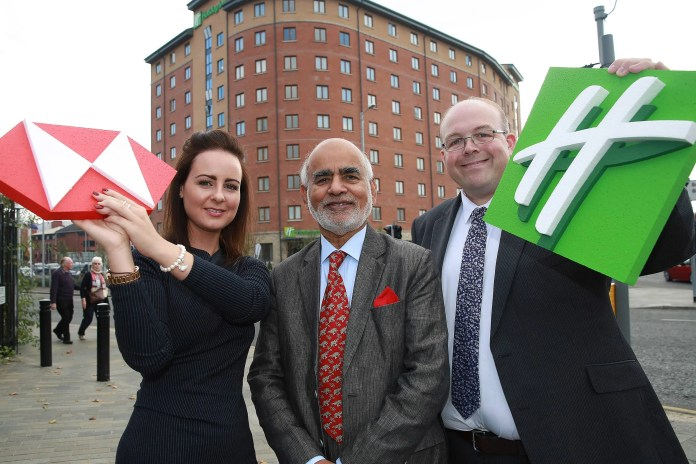 Lauren Hughes, HSBC, Lord Rana and Philip Turner, IHG