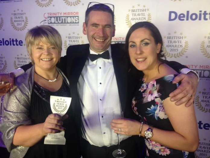 Esther Dobbin, Commercial and Visitor Operations Manager, Alastair Walker, Giant's Causeway Site Manager and Catherine McAuley, Retail Supervisor.