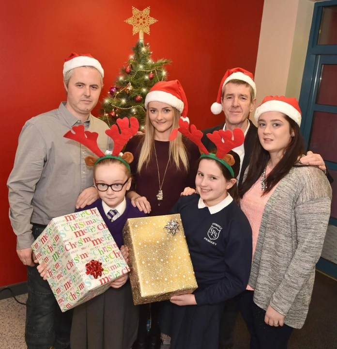 Three big hearted lottery winners, Martin McKenna, who won £1m on a Millionaire 777 scratchcard, Lauren McLarnon who bagged £100k on a Rainbow scratchcard and Claire Marks who won £250k on a Celebration scratchcard, visited two primary schools in west Belfast, St Claire's Primary School and Springfield Primary School, to help bring a little bit of Christmas cheer and some festive treats.  The schools are part of the Big Lottery Funded, Moving Up Moving On which was awarded £696,933 by the Big Lottery Fund.  The project is led by the Forthspring Intercommunity Group which works closely with the pupils and families of both schools in the Clonard, Springfield, Woodvale and Shankill areas of west Belfast to improve their life opportunities via a series of family events, homework clubs and language clubs.   Pictured at St Claire's Primary School are (l to r – back row) Martin McKenna, Lauren McLarnon, Chris O'Halloran from Forthspring Intercommunity Group, Claire Marks and pupils from St Claire's Primary School and Springfield Primary School. Each week National Lottery players raise over £34 million for National Lottery projects across the UK.  To date more than 450,000 grants have been awarded – an average of 135 grants for every postcode district.   To find out more about Forthspring Intercommunity Group please visit www.forthspring.org. To find out more about where National Lottery funding goes, visit: www.lotterygoodcauses.org.uk/.