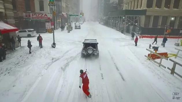 Snow Boarding in New York