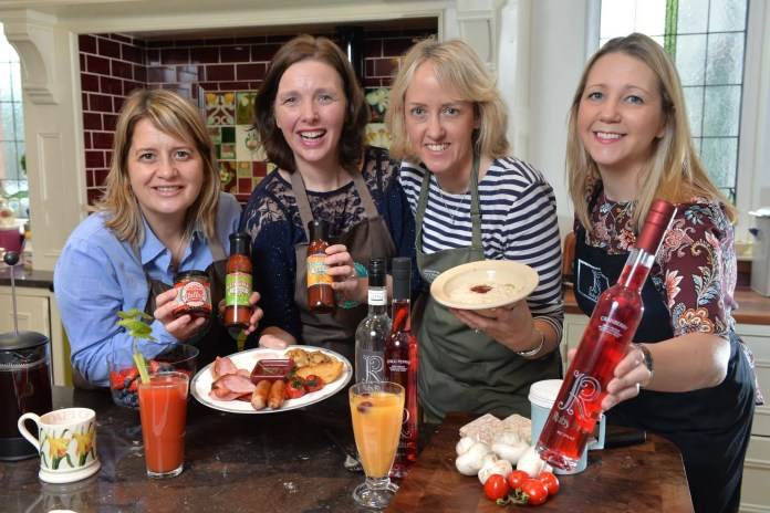 (L-R) Paula Latuske and Trudy Hodkinson from Hollah Preserving, Lynne McCabe from Lisnacurran Country House B&B, and Barbara Hughes from Hughes Craft Distillery