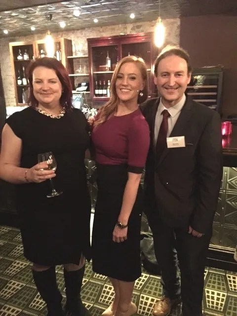 Pictured at the Century Club in London are (from left) Naomi Holland, Downtown & Cool FM Bulletin Editor who was voted UK Newsreader of the Year; Sarah-Jane Mee, Sky News and Sports presenter, awards host; Nigel Gould, Head of News & Sport, Downtown & Cool FM