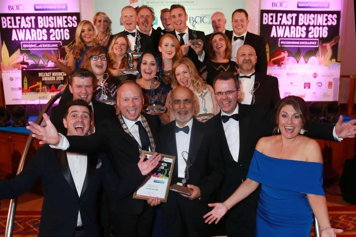 Award winners from the Belfast Business Awards