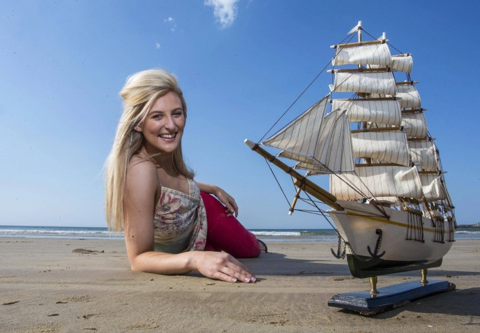 The countdown is on to Rathlin Sound Maritime Festival - a week long maritime themed festival packed awash with family fun, food and sea-going antics. The festival kicks off tomorrow and will run until the 5th June. Pictured on Ballycastle beach with a replica Tall Ship to kick start the festival is Danielle Graham.