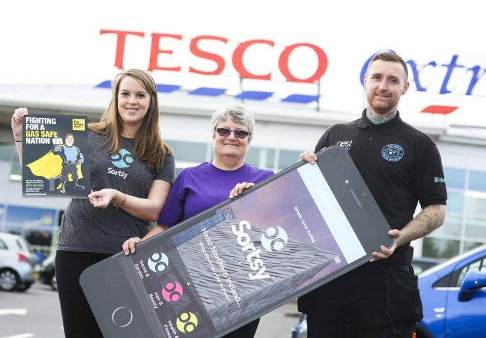 Sortsy has teamed up with Tesco Northern Ireland and Sortsy accredited plumbers City Gas NI, to host an number of awareness events and give away carbon monoxide monitors during Gas Safety Week 2016, which is taking place from 19th – 25th September. The aim of the campaign is to educate Northern Ireland consumers on the dangers of gas and the importance of looking after your gas appliances and installing a carbon monoxide monitor in the home to avoid injury or death by this 'silent killer'. Claire Carson, Sortsy, Jean Cardy, Community Champion Tesco and Ryan Burnison, City Gas NI encourage Northern Ireland to get gas aware this Gas Safe Week (19th – 25th September) as they prepare for to visit Tesco Extras stores inclusing Knocknaghoney (Thursday 22nd September 1pm - 5pm), Newtownabbey (Friday 23rd September from 1pm – 4pm) and Antrim (Saturday 24th September 10am – 2pm) where customers can benefit from tips and advice on being gas safe as well as the opportunity to win one of 10 Tesco carbon monoxide monitors for their home. For further information visit www.sortsy.co.uk/begassafe. Image by John Murphy, Aurora PA.