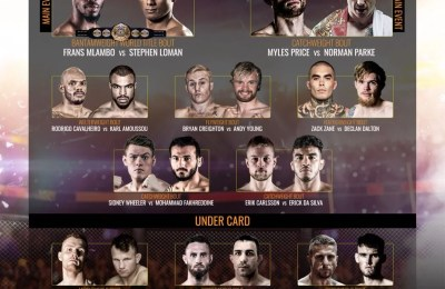 Brave 13, Fight Card