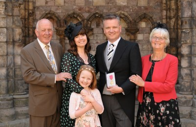 Keith Getty and family OBE ceremony