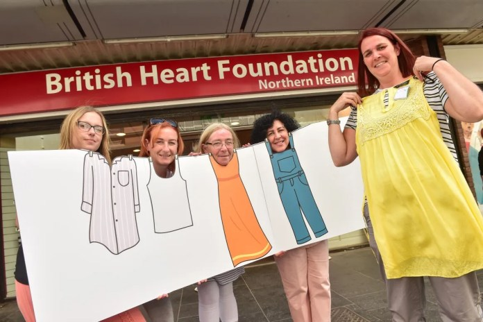 The British Heart Foundation Launches The Big Stitch in Belfast