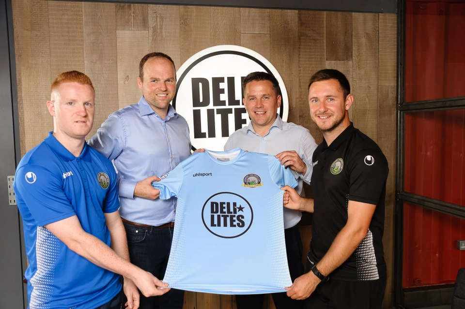 Deli lites announce Warrenpoint Town sponsorship