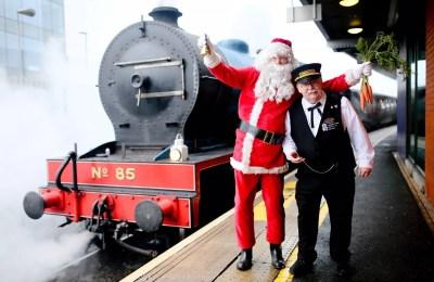 Santa and train conductor Patrick_Aurora Photography
