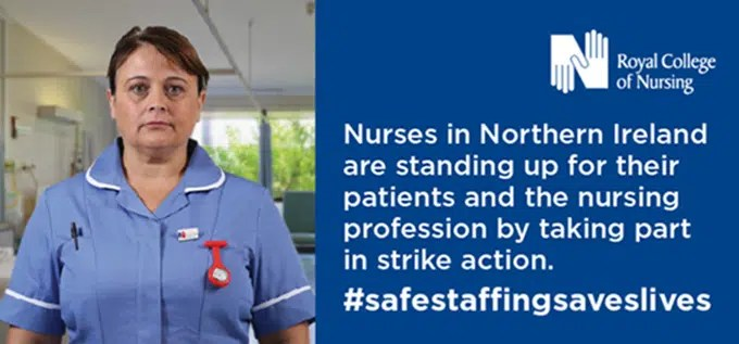 RCN begins second day of strike action for safe and effective care in Northern Ireland