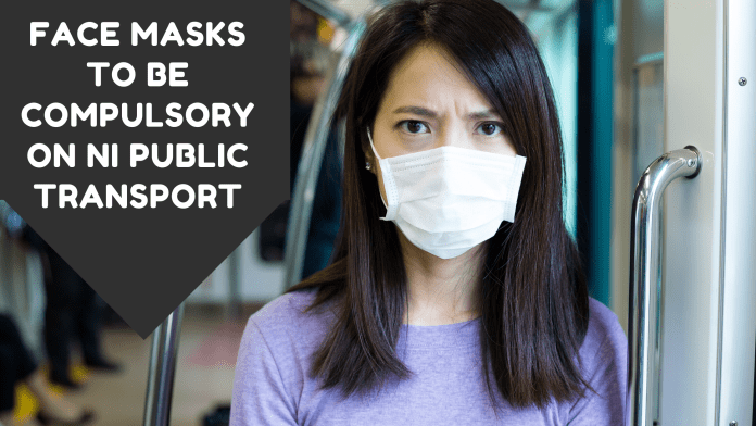 Face masks to be compulsory on NI public transport