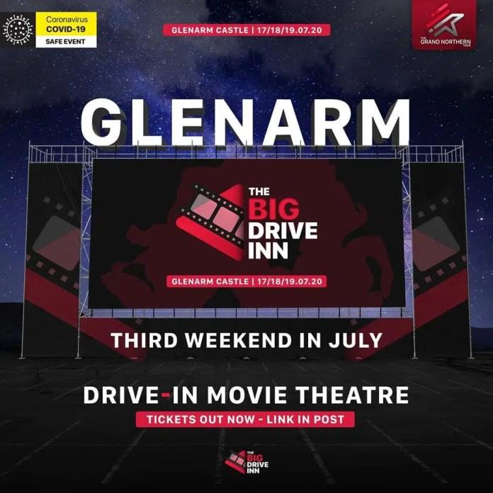 THE BIG DRIVE INN MOVIES COMES TO GLENARM CASTL