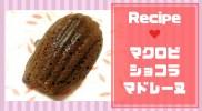 チョコマドレーヌの人気レシピ!しっとり簡単マクロビ&ヘルシー仕様!【バレンタインに!】