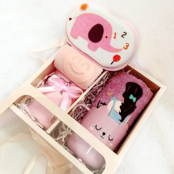 gift box bath set girl