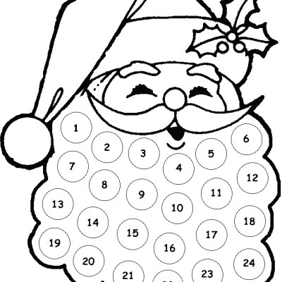 Kids Craft: Santa Advent Calendar