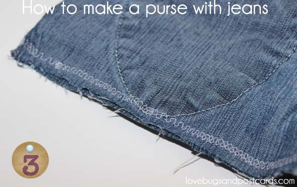 How to make a purse with jeans - Step 3