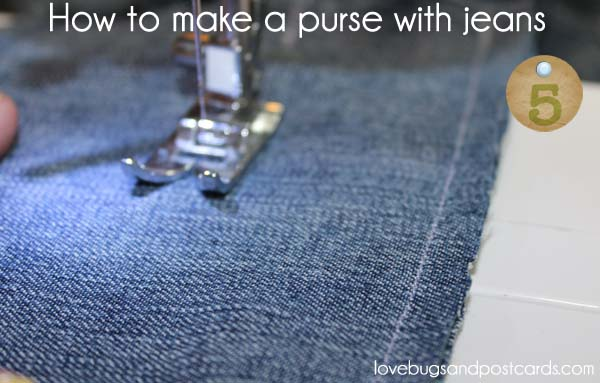 How to make a purse with jeans - Step 5