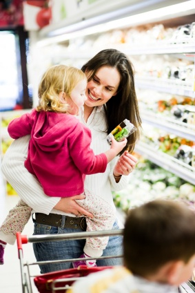 how to shop for groceries with kids