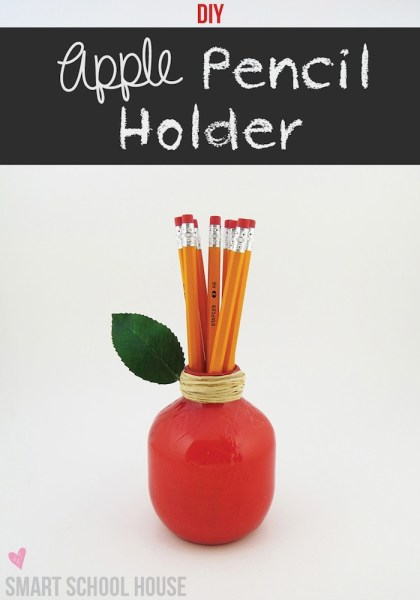 Apple Pencil Holder  Teacher Appreciation Gift