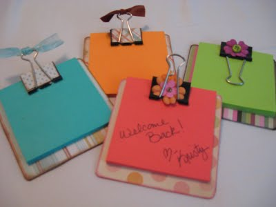 Sticky Notepad  Teacher Appreciation Gift