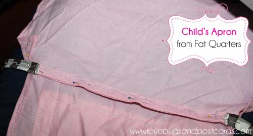 How to make a childs apron with fat quarters