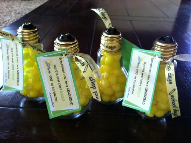 Glass Bulb Lemon Heads  Teacher Appreciation Gift
