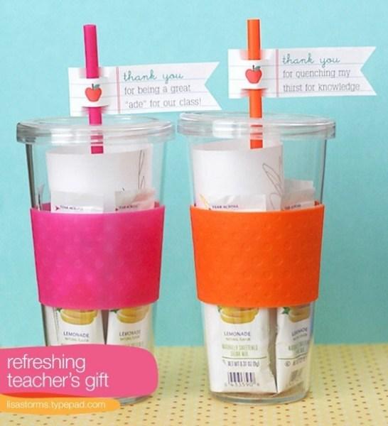 Lemonade Reusable Glass  Teacher Appreciation Gift