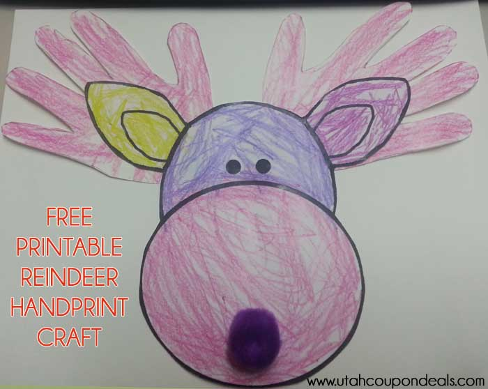 Printable Reindeer Craft (Antlers or Handprints)