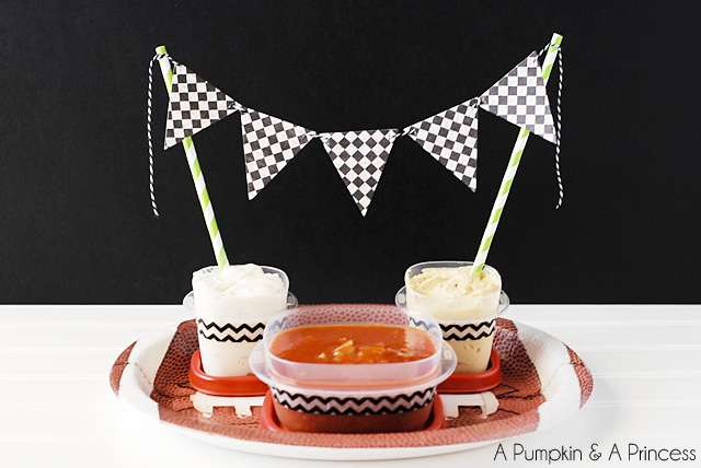 15 Super Bowl Party Ideas - Dip Tray Decorations