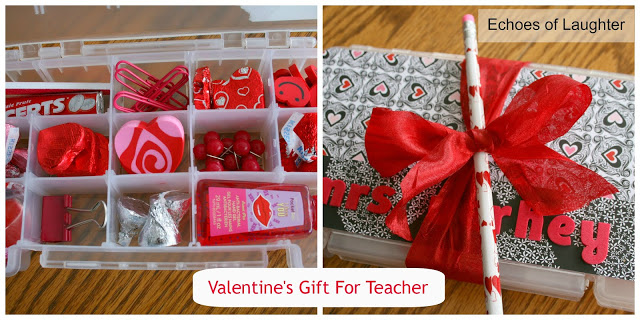 Valentines Teacher Gift Boxes