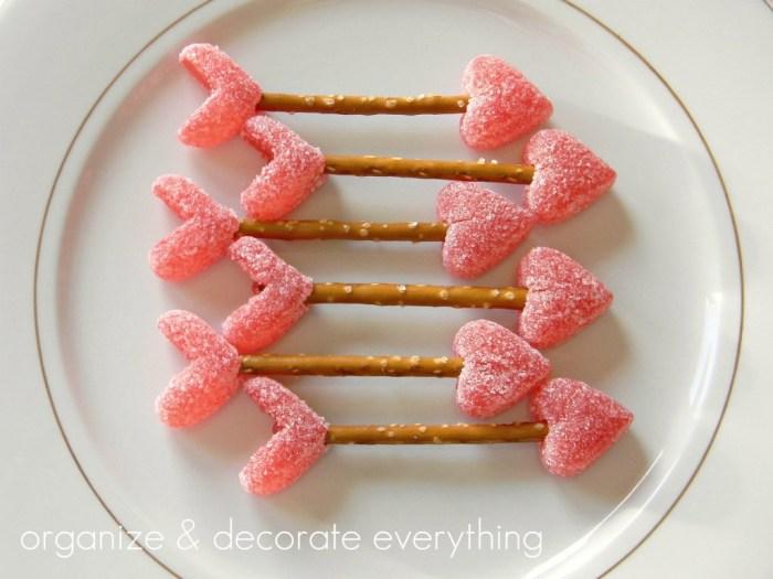 10 Valentine's Day Food & Treats - Valentine's Day Cupids Arrow Valentine's Treats