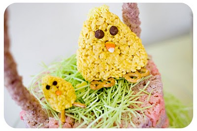 Chewy Gooey Rice Krispie Chicks