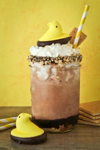 Chicken Peeps Over The Top S'Mores Shakes