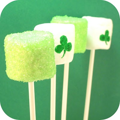 17 St. Patrick's Day Treats {easy, fun, and colorful} - St. Patrick's Day Marshmallows