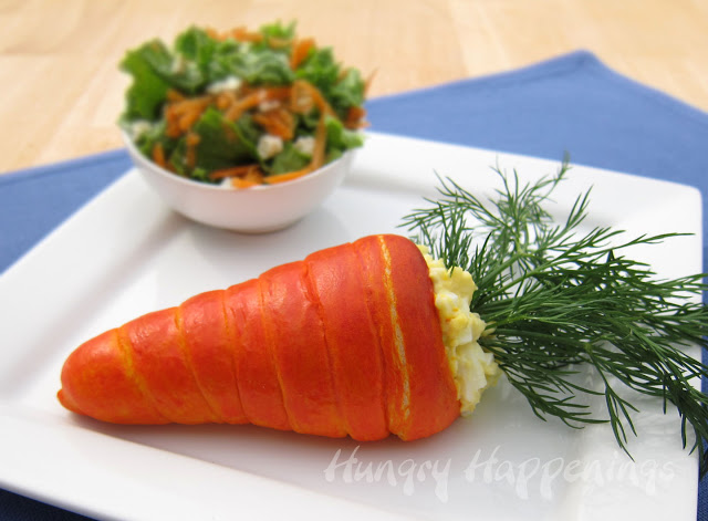 Crescent Roll Carrots with Egg Salad