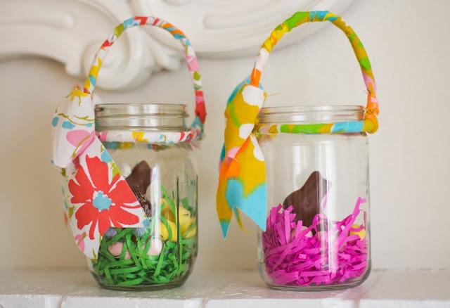 Mason Jar Easter Baskets