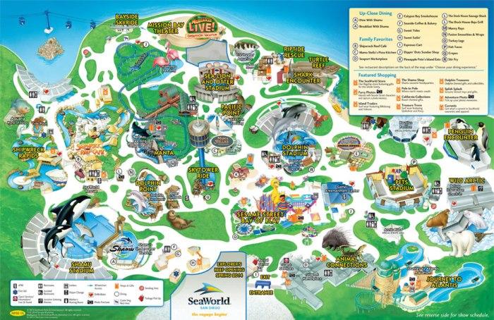 SeaWorld® San Diego's Park Map