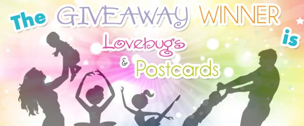 The Giveaway Winners on Lovebugs and Postcards is