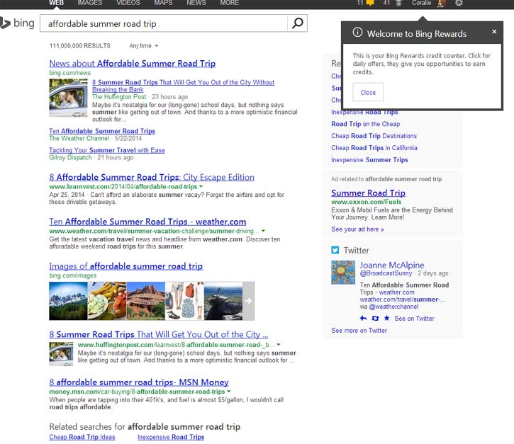 Bing Rewards {Search and Earn points - Get Gift Cards, Travel, Games and more } #bingblogger