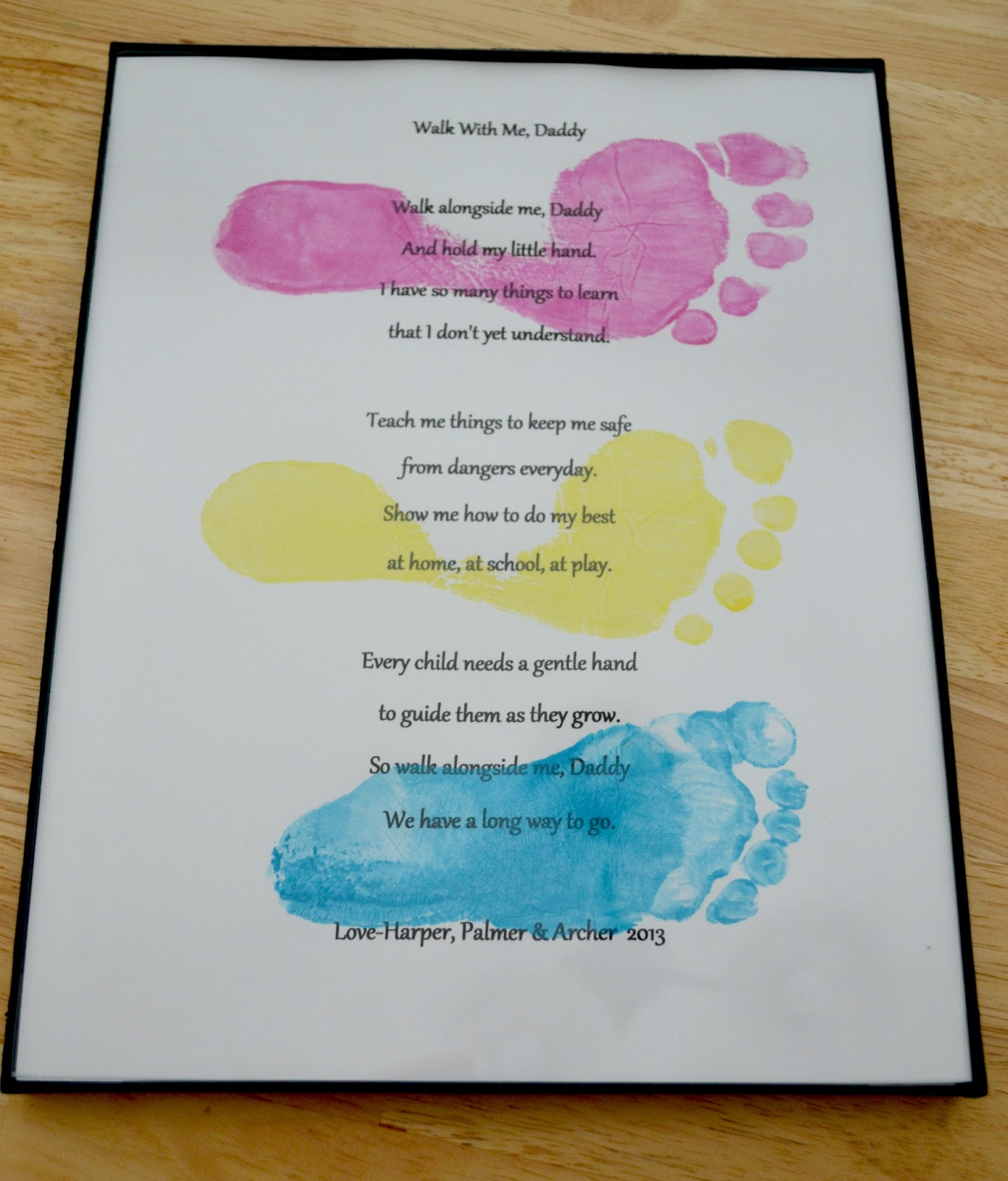 Father S Day Footprints Poem