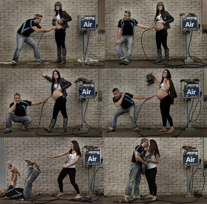 Creative Ways To Announce Pregnancy - Air Pump