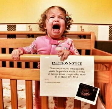 Creative ways to announce pregnancy - Eviction Notice