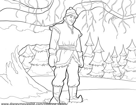 FROZEN Kristoff Coloring Page