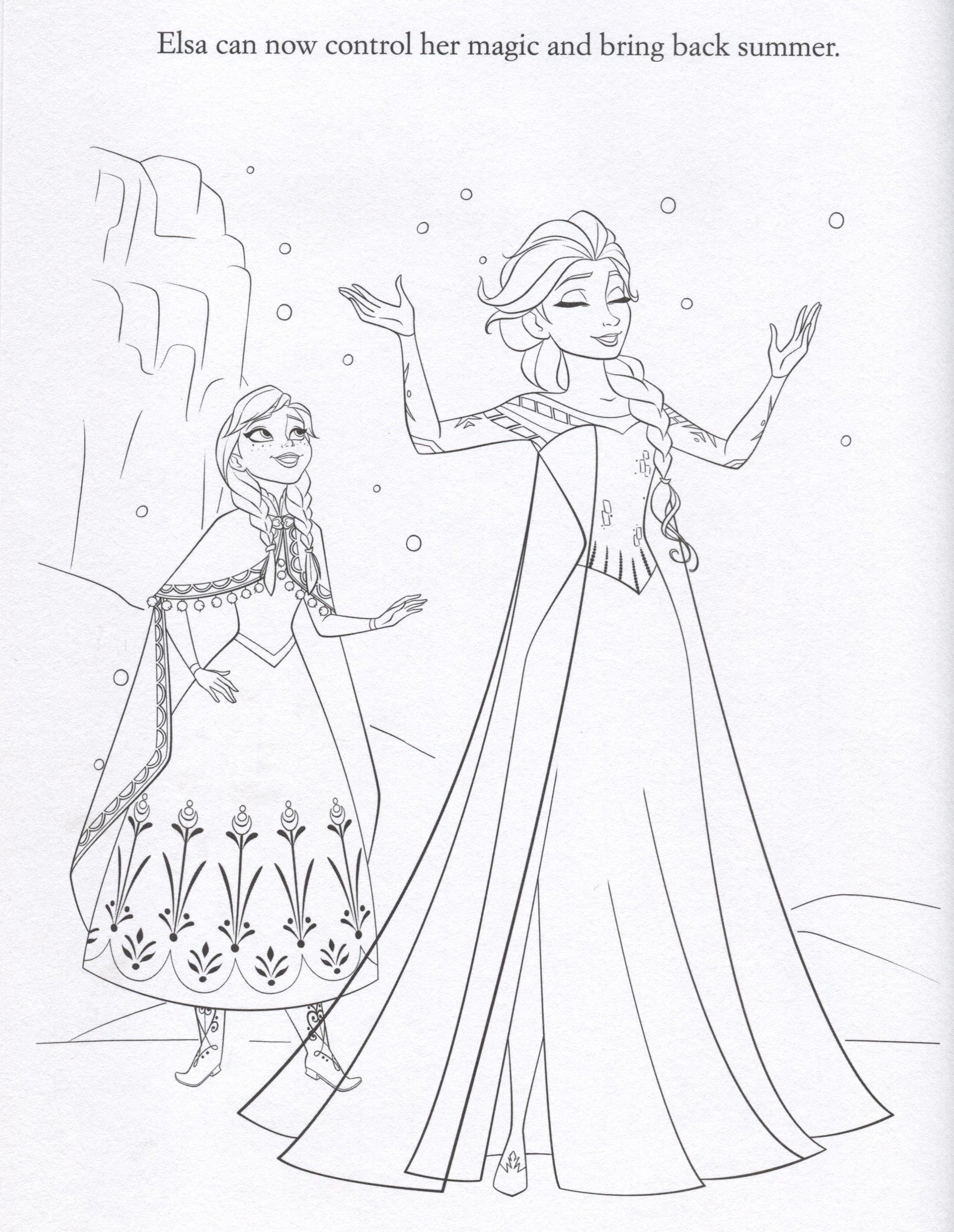 frozen 2 print coloring pages - photo#24