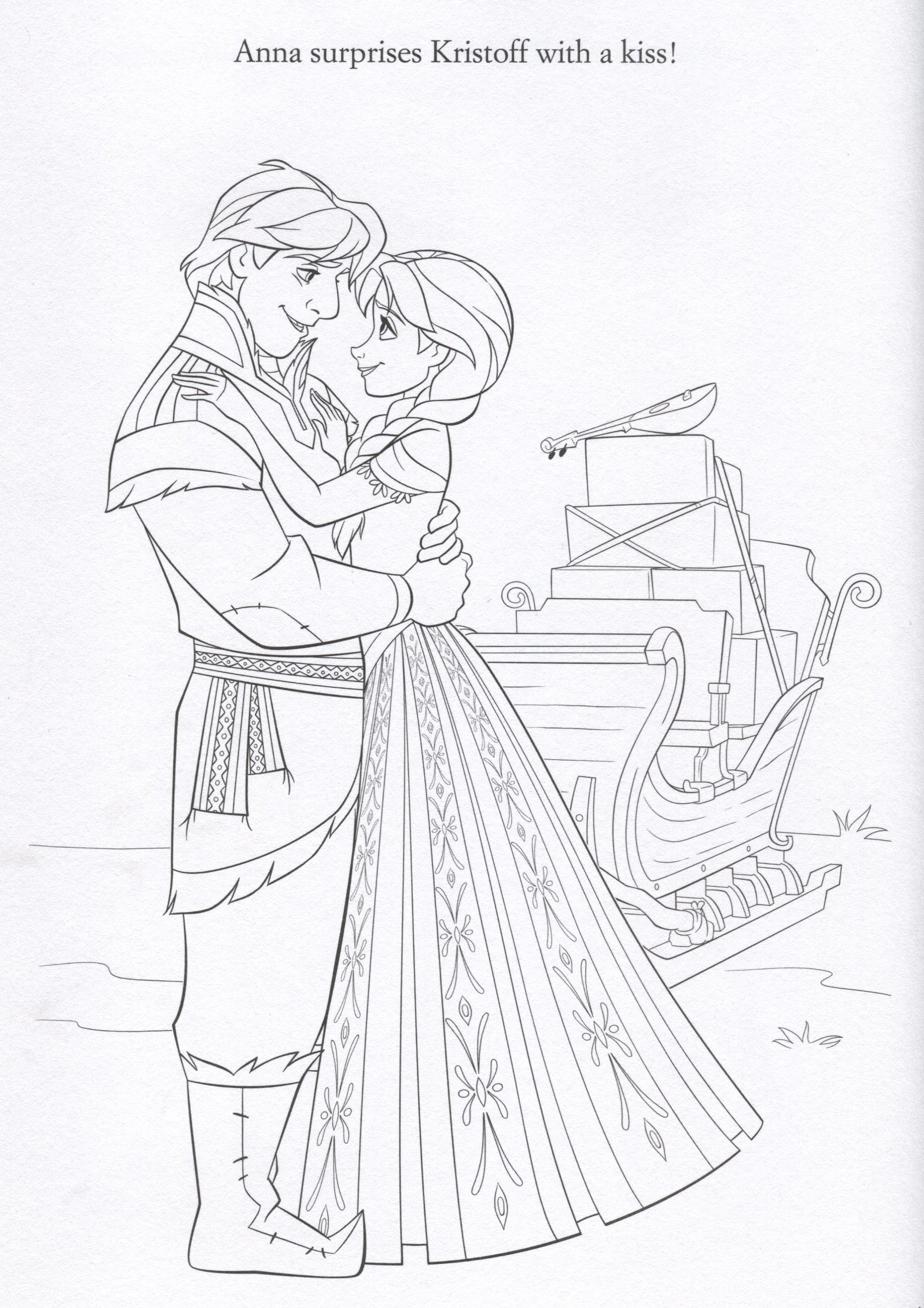 Frozen Coloring Pages Anna Face : Disney frozen coloring pages lovebugs and postcards