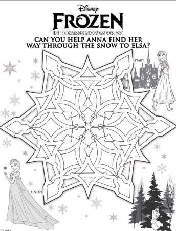 Snowflake Maze with Anna and Elsa