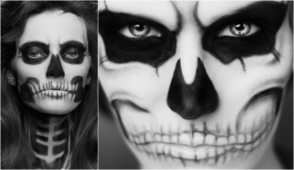 Face Painting of Women Skull