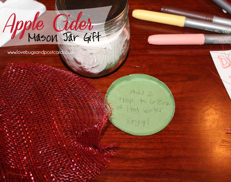 Apple Cider Mason Jar Gift with #BicMerryMaking #PeachParfait